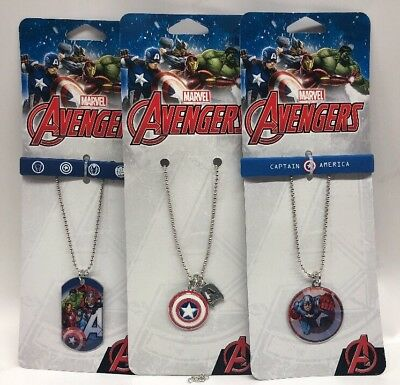 marvel avengers Captain America Dog Tags Necklace & Wristbands Lot Of 3 Pack