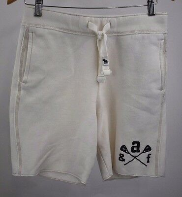 """Abercrombie Kids Youth Sweat Shorts Size XL Pockets Cream Color Waist 28"""""""
