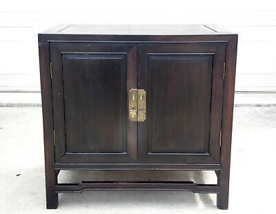 Vintage / Antique Hawaiin TEAK Wood NIGHT STAND / Small Cabinet