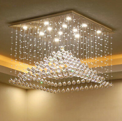 Modern Fashion Crystal chandeliers Two-tone Dimming Crystal Ceiling light  #8163