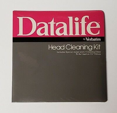 "New Old Stock - Datalife By Verbatim - Head Cleaning Kit - Used On 5 1/4"" Drives"