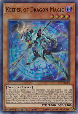 Yugioh! Keeper of Dragon Magic - CT15-EN004 - Ultra Rare - Limited Edition Near