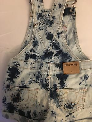 Adorable Stone Washed Kids True Religion Overall Shorts Size 4T *RARE*