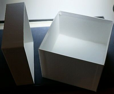 "5"" x 5"" x 4"" MFS Perfect Cotton-Filled ROCK BOXES, Lot of 12, Unused, with Flats"