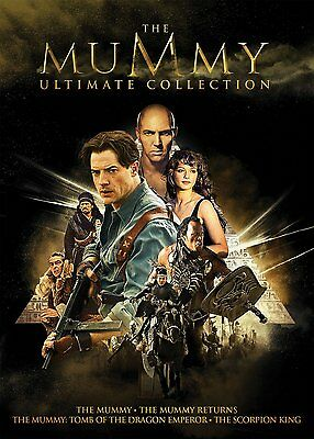 The Mummy Ultimate Collection: (DVD, 2017, 5-Disc Set) Contains all 4 Movies NEW
