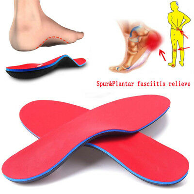 Orthotic Shoe Insoles Arch Support Flat Feet Foot Pain Relief Inserts Pad Insert