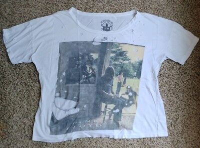 03d034cd Chaser for Urban Outfitters Shirt T-shirt Pink Floyd White Destroyed Size  Small