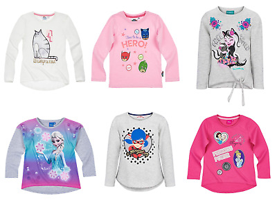 Girls Kids Official Licensed Disney Various Long Sleeve T Tee Shirt Top 2 - 12