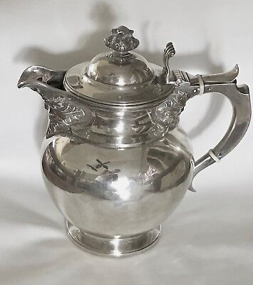 Antique William Cunningham Edinburgh Green Man Sterling Silver Teapot