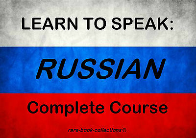 Learn Russian Fast - Spoken Language Course - 4 Books & 4.5 Hrs Audio Mp3 On Dvd