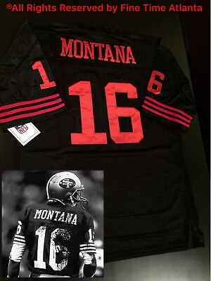 9e478d9c36e NEW Joe Montana San Francisco 49ers Mens M N Black Throwback Jersey  Garoppolo