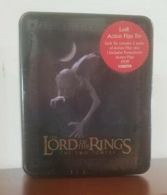 Lord Of The Rings The Two Towers Action Flipz Tin/Cards By Artbox....SEALED!