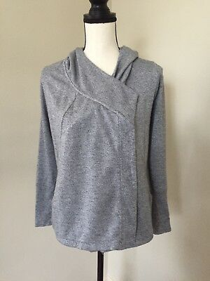 A Pea In The Pod Maternity Heathered Gray Hooded Light Fall Jacket Size S
