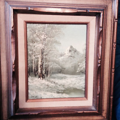 """Nice Original  """"Mountainscape Scene"""" Painting -Signed And Framed"""