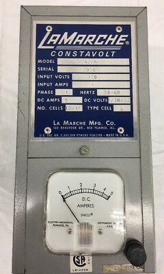 LaMarche Constavolt Battery Charger Model A20R P/N:6L 4027
