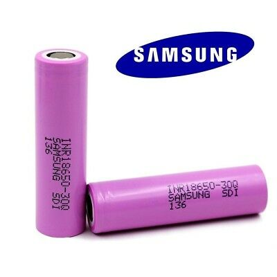 2 X GENUINE Samsung 18650 30Q 3000mAh 20A Battery *AUTHENTIC*