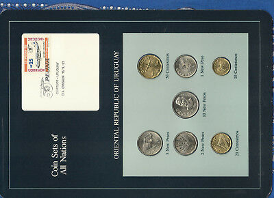 Coin Sets of All Nations Uruguay 1980-1981 UNC Vicker Viscount 1,5 New Peso 1980