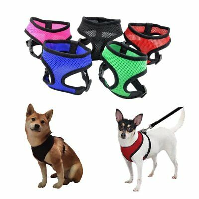 Pet Control Harness Dog Cat Soft Nylon Mesh Walk Collar Safety Strap Vest XS-XL