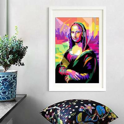 Oil Painting Mona Lisa Unframed Art On Canvas Modern Abstract Huge Wall Decor