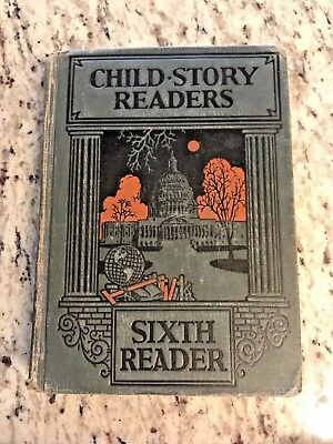 "1929 Antique School Book ""Child-Story Readers"""