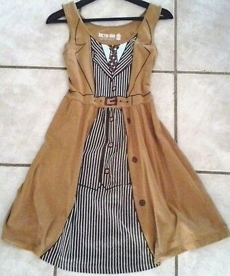 Halloween DOCTOR DR. WHO Her Universe BBC 10th. Doctor Costume Beige Dress Sz L