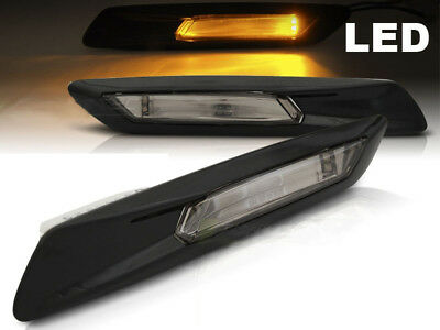 2x LED Frecce laterali Auto gemme LUCIDO NERO BMW Serie 5 F10 2010-2013 M3C1IT M