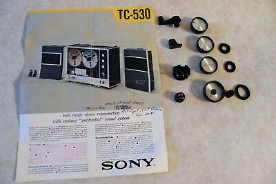 """Vtg SONY TC-530 STEREO REEL TO REEL TAPE RECORDER KNOBS / PARTS  """"AS PICTURED"""""""