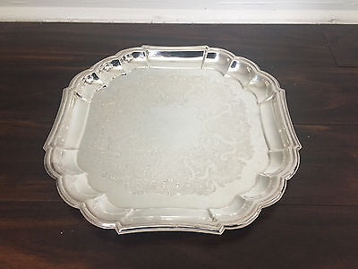 Vintage Gorham Heritage EP Silverplate Serving Tray Platter YH27
