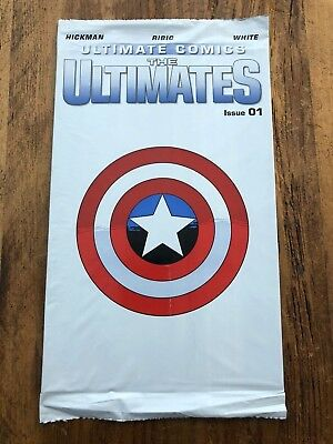 Ultimate Comics The Ultimates #1 Marvel Poly Bag 2002 COMBINE SHIPPING KEY A