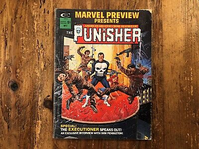 1975 Marvel Preview Presents The Punisher Magazine Number 2 #2 @