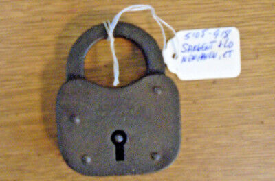 Early Sargent & Co. Key Padlock / Without Key-Good Condition- (5105-918)