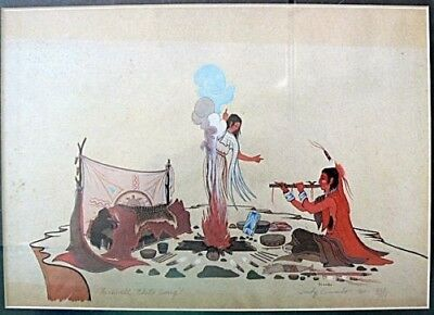 one Potawatomi Artist WOODY CRUMBO PRINT SIGNED & NUMBERED