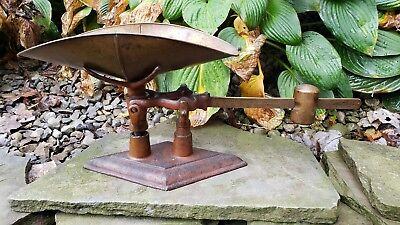 RARE Antique American Cutlery Co Candy Scale Primitive Original Early Red Paint