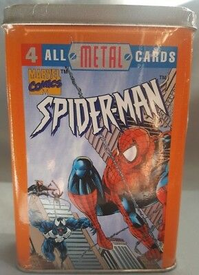 Spider-Man All Metal Cards 1996 Marvel Comics Nip Sealed Collectors Tin