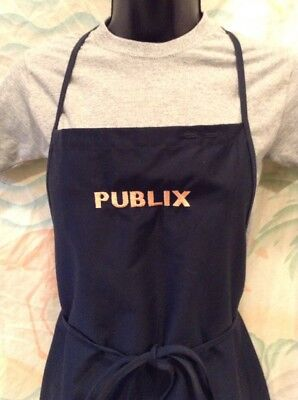 Publix Supermarket Employee Work Apron One Size Black Pink Embroidered Letters
