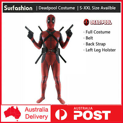 Lycra Spandex Full Body Deadpool Avengers Costume Outlet with Accessories