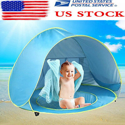 US Baby Pool Tent Baby Beach Tent with Pool UV Protection Sun Shelter Infant DS