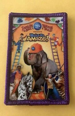 """Ringling Bros Barnum & Bailey Circus """"Built To Amaze"""" Collectible Patch NEW!!"""