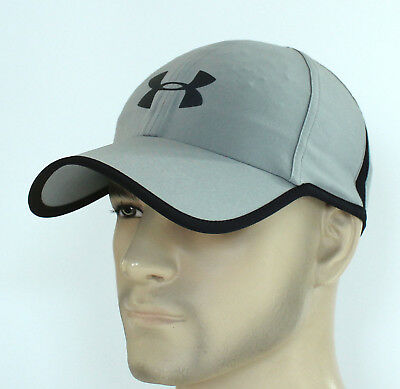 f81473010c7 New Men s Under Armour Shadow 4.0 Reflective Vent Baseball Cap Runner Hat  Grey