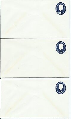 US Sc# 544 ENVELOPE 5 cent  BLUE, LOT OF THREE UNUSED
