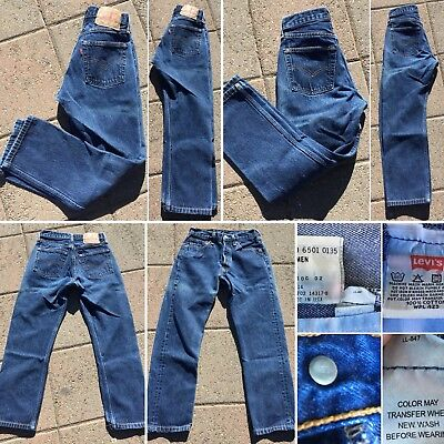 Vintage Levi's 501 For Women Button Fly Jeans 27 30 Measure 26 X 26 1/2 USA Made
