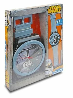 Brand New Boys Disney Star Wars Stormtrooper Grey Jumbo Watch Wall Clock