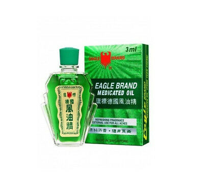Eagle Brand Medicated Oil Green Relief Pains Muscles Pains Sprains 3ml