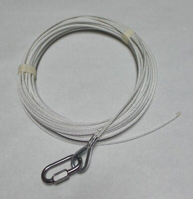 White 28 Foot Extra Strength Dog Leash For Large Pets with Heavy Duty Metal Ring