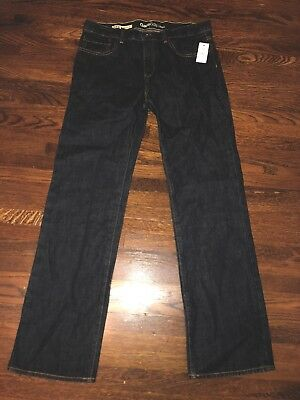 GAP Kids 1969 Boys Blue Denim Straight Leg Jeans Size 14 Husky