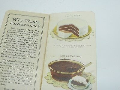 Vtg 1923 Eline's Dictionary Candy Milk Chocolate & Cocoa Recipes Advertising