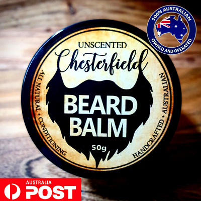 Chesterfield Beard Balm Unscented Natural Conditioner Growth Care Style Wax Hair