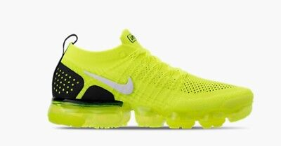 newest 97e78 068e3 NIKE AIR MAX VaporMax Flyknit 2 Volt 942842-700 Volt White Black Bright  Yellow