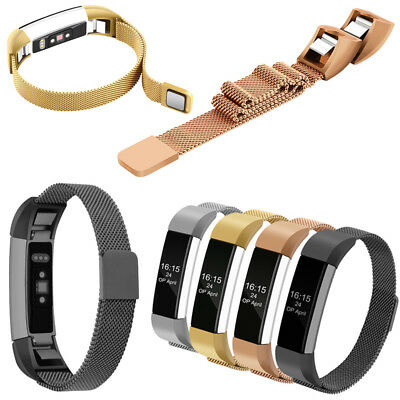 Magnetic Milanese Stainless Steel Watch Wrist Band Strap For Fitbit Alta / HR AU