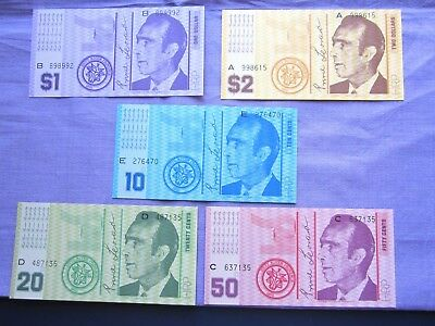 Hutt River Province $50 to $1 5 notes High grade Low start Free postage L@@K